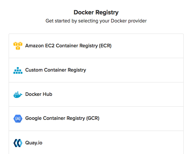 Docker registries